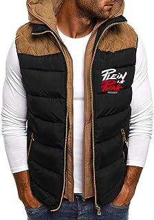QUINTRA Mens Gilets Quilted Body Warmer Light-Weight Hooded Sleeveless Jacket Outdoor Waistcoats Men's Autumn Winter Zippe...