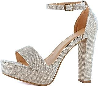 ba7a0fc84 Guilty Shoes Womens Platform Ankle Strap High Heel - Open Toe Sandal Pump -  Formal Party