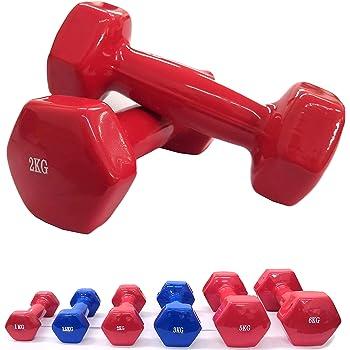 Lupex Shop Manubrio Pesi in Neoprene o Vinile Antiscivolo, da 1-1,5-2 - 2,5-3 - 5-6 - 15-20kg, Singolo o in Coppia, Palestra Fitness Body bulding