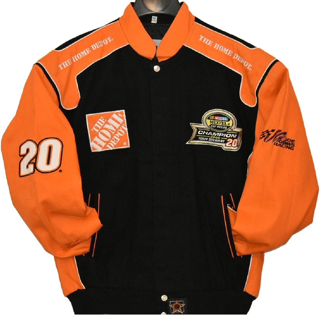 Tony Stewart Nextel Cup Series Championship Jacket Size Large Black