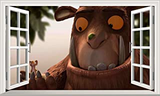 Gruffalo Child Mouse V202 3D Magic Window Wall Sticker Self Adhesive Poster Wall Art Size 1000mm Wide x 600mm deep (Large)