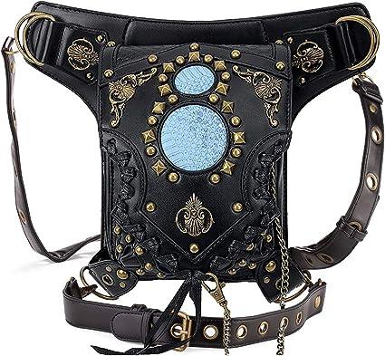 Punk Style Inspired Leather Vintage Retro Waist Bag  Womens  Belt Bag Fanny Pack