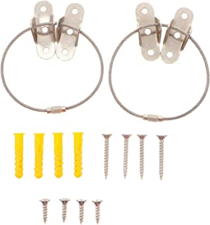 Hemobllo 4 Sets Furniture Anchors Anti Tip Furniture Straps Tension Earthquake Resistant Metal Straps Wall Anchor for Baby...