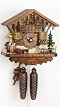 German Cuckoo Clock 8-day-movement Chalet-Style 11.81 inch - Authentic black forest cuckoo clock by Hekas