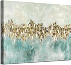 Abstract Canvas Wall Art Picture: Gold Artwork Hand Painted Painting for Bathroom (36'' x 24'' x 1 Panel)