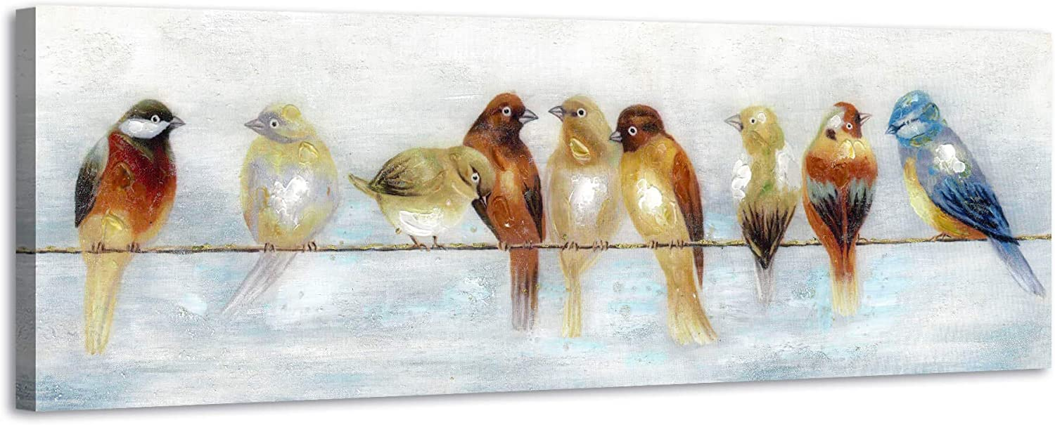 ARTISTIC PATH Abstract Birds Canvas Art: Colorful Wall Max 54% OFF on Genuine