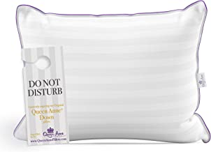 The Original Queen Anne Pillow™ - 100% Down Pillow - Ethically Sourced French White Goose Down Pillow - 650 Fill Power Hotel Pillow Collection - 330 Thread Count - Made in USA (King Firm)