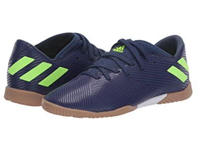 adidas Kids Nemeziz Messi 19.3 IN Soccer (Little Kid/Big Kid) (Tech Indigo/Signal Green/Glory Purple) Kid