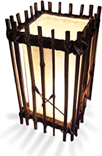 Fai Lighting Bamboo Frame Tropical Tiki Rustic Accent Table Lamp