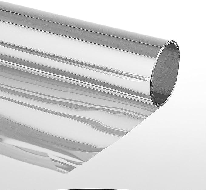 Sonnenschutzfolie Extrem Selbstklebend Mit Spiegeleffekt Fensterfolie Tönungsfolie Schutzfolie Silber 75 X 600 Cm Silber Baumarkt