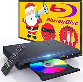 New Blu-Ray DVD Player for TV, HD Disc Player with HDMI AV Cables, Home Theater CD DVD Player Built-in PAL NTSC System wit...