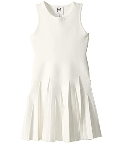 Milly Minis Pointelle Godet Flare Dress (Big Kids) (White) Girl
