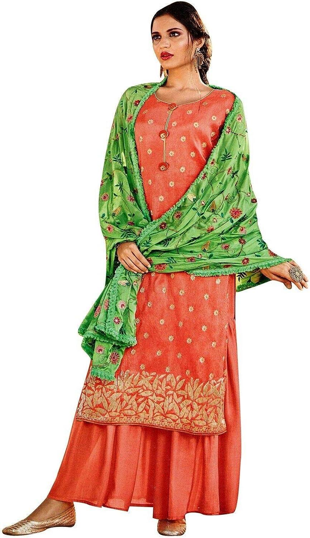 ladyline Crepe Silk Jacquard Salwar Pala with Kameez Max 70% OFF Embroidered Tulsa Mall