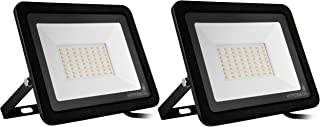 Hyperikon 50W LED Flood Light Outdoor, 250 Watt Equivalent Security Light with Rotatable Bracket, 5000k, 110V, 2 Pack