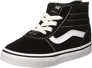 Vans 范斯 男女通用款 Baby Ward Hi 拉链绒面/帆布运动鞋 Schwarz ((Suede Canvas) Black/White Car) 25 EU