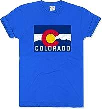 Charlie Hustle Unisex Vintage Blue Colorado Mountain Flag Tee T-Shirt