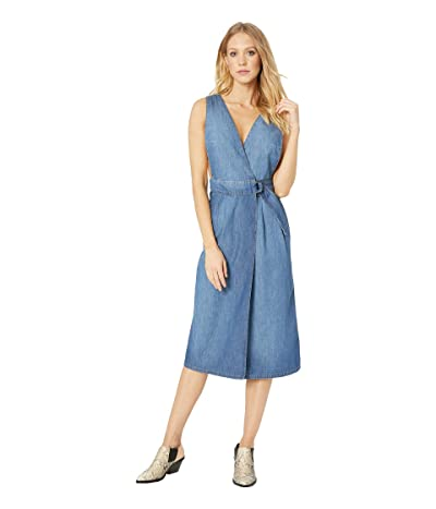 Free People Keeping My Cool Denim Dress (Denim Blue) Women