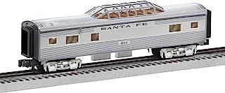 Lionel 684725 Santa Fe Add-On Vista Dome Car, O Gauge, Silver, Gray, Tan, Black