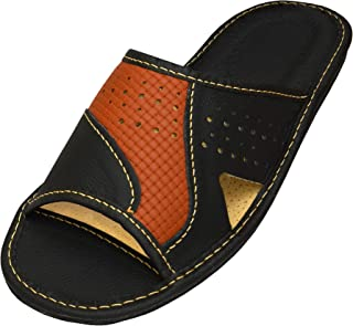 Sandales Bout Ferm/é Homme Cuir Chaussures de Plage Piscine Pantoufles D/ét/é Sport Marche Randonn/ée Sandales EU38-EU48