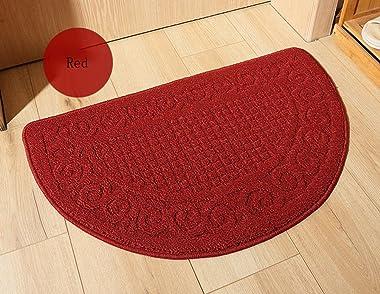 ZebraSmile Semicircle Retro Home Entrance Doorway Mat Door Mat Entry Doormat Entryway Half Moon Door Mat Door Carpet for Bedr