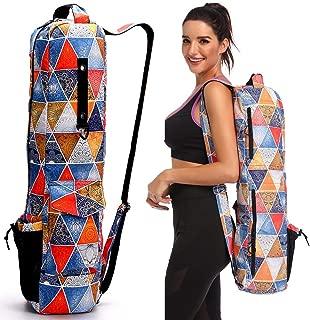 FODOKO Yoga Mat Bag, Full Zip Exercise Yoga Mat Sling Bag with Multi-Functional Storage Pockets, Smooth Zippers, Adjustable Shoulder Strap Yoga Equipment Bag