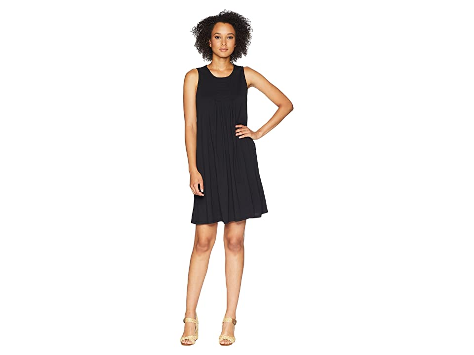 Mod-o-doc Supreme Jersey Pleated Tank Dress (Black) Women