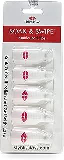 Bliss Kiss Reusable Soak & Swipe Nail Art-Nail Polish Remover Clips