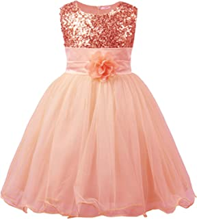 Girls' Clothing (2-16 Years) Clothes, Shoes & Accessories Sunny Girls Orange Cotton A Line Summer Dress Age 7-8 Years