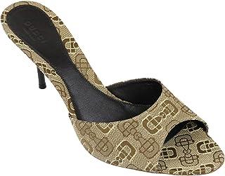 e47938ea9b78 Gucci Women  s Canvas Horsebit Print Slides Sandalias 295093 (9 US   39