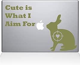 "The Decal Guru Cute Rabbit Hunting Macbook Decal Vinyl Sticker  - 15"" Macbook Pro (2015 & older) - Gold (1247-MAC-15P-G)"