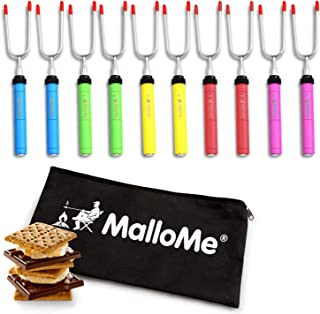 MalloMe Premium Marshmallow Roasting Sticks Set of 10...