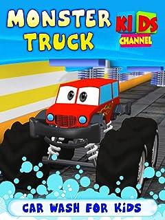 Monster Truck Car Wash For Kids - Kids Channel