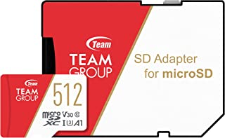 Team microSDXCカード 512GB 高速転送UHS-1 U3 V30 A1対応 日本国内10年保証 SD変換アダプター付属 正規品