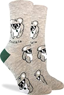 Good Luck Sock Women's Coolala Koala Socks - Grey, Adult Shoe Size 5-9