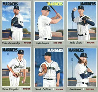 b70761fb 2019 Topps Heritage Baseball Seattle Mariners Team Set of 11 Cards: Felix  Hernandez(#2), J.P. Crawford(#90), Jay Bruce(#99), Mallex Smith(#150), ...