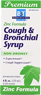 Boericke and Tafel Cough and Bronchitis Syrup with Zinc, 4 Fluid Ounce