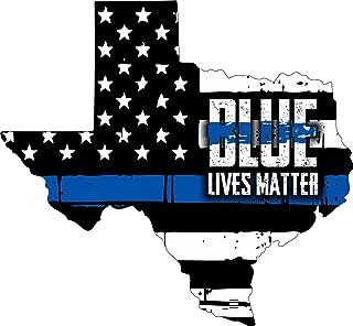 Evan Decals Thin Blue Line- State of Texas Blue Lives Matter Window Decal Vinyl Sticker 6
