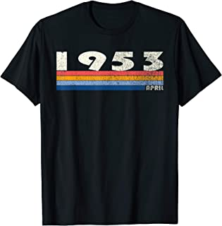 66th Birthday Gift Retro Born in April of 1953 T-Shirt