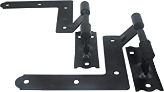 ELBA Black Blind Shutter Hinges for Wood Frame and Brick - 1 Pair (2 Units)
