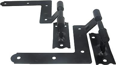 ELBA Black Blind Shutter Hinges for Wood Frame and Brick - 1 Pair (2 Units)