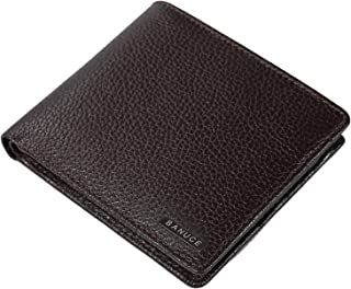 Top Grains Leather Bifold Wallet for Men Money Purse with Extra Detachable Card Case Organizer