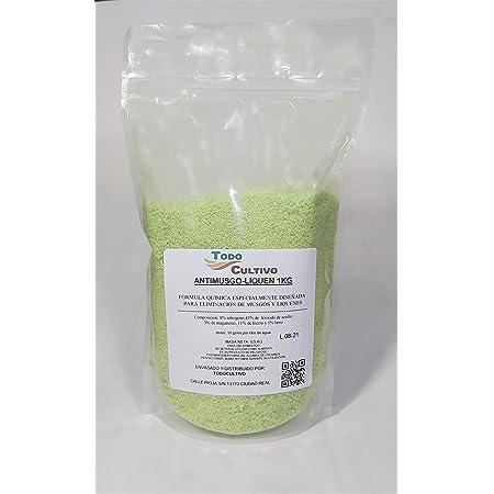Anti Musgo y líquenes 1kg. A base de sulfato de hierro (11%). TRATAMIENTO PARA 100 LITROS.