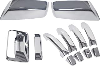 ECOTRIC Chrome Mirror+4 Door Handle+Tailgate+Camera Hole Cover for 14-18 Chevy Silverado GMC Sierra