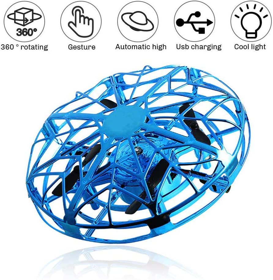 HOGzka Mini UFO Drone with Automatic Recognition and Avoidance of Obstacles,Three-Color LED Lights.Suitable for Parents and Cildren to Play