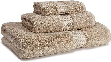 مجموعة مناشف Kassatex Stella 3 قطع: 1 حمام، 1 يد ، 1 منشفة - 87% قطن ايجي ممشط 13% مودال - Dune