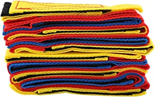 OhhGo Footsteps Bandage Durable Game Props Cooperative Footsteps Straps for Indoor Outdoor Activity Games