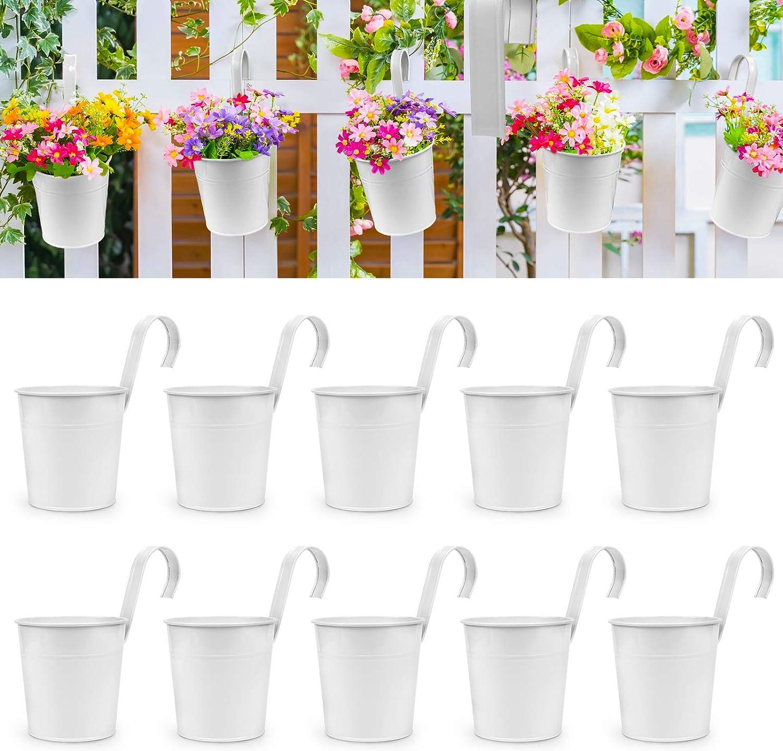OGIMA 10Pcs Hanging Flower Fees free!! Pots cheap Wall Indoor Iron Metal Planter