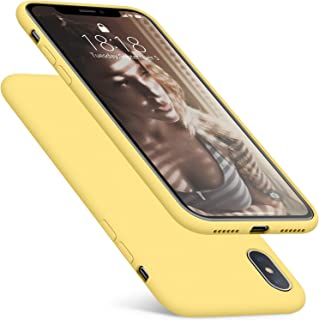 DTTO Case for iPhone XS,[Romance Series] Silicone Case with Hybrid Protection for Apple iPhone XS (2018), Also Compatible with iPhone X (2017) 5.8 Inch - Yellow