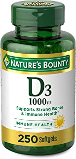 Vitamin D by Nature's Bounty for immune support. Vitamin D provides immune support and promotes healthy bones. 1000IU, 250...