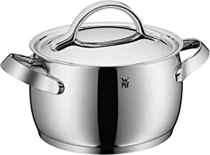 WMF Concento High Casserole 20Cm With Lid, Stainless Steel, 1kg